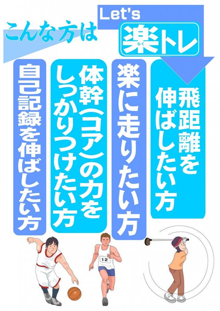 楽トレブルー スポーツ